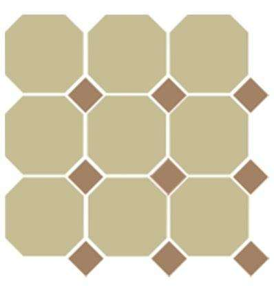 Плитка Topcer Yellow Octagon 03 Caramel Dots 04 30x30