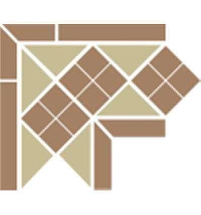 Плитка Topcer Corner Lisbon-1 Tr.03 Dots 04 Strips 04 21.5x21.5x15