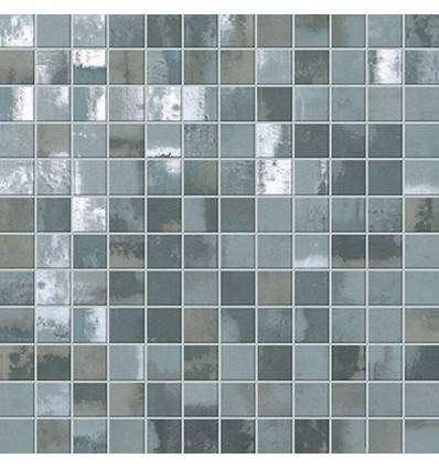 Плитка FAP Ceramiche Evoque Acciaio Silver Mosaico 30.5x30.5